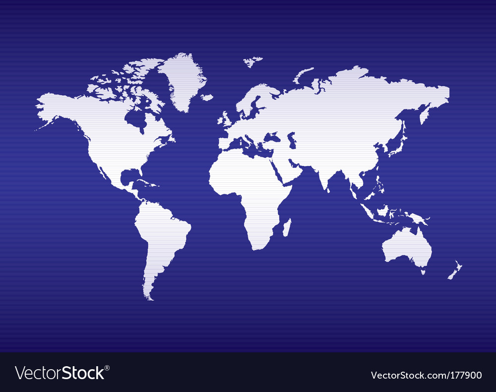 World map blue ocean vector   Price: 1 Credit (USD $1)