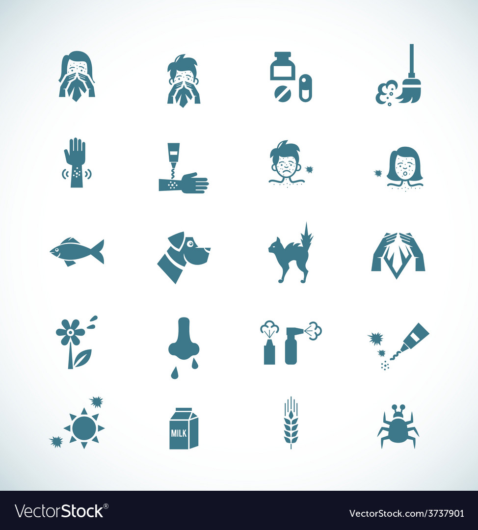 Allergies icons vector | Price: 1 Credit (USD $1)