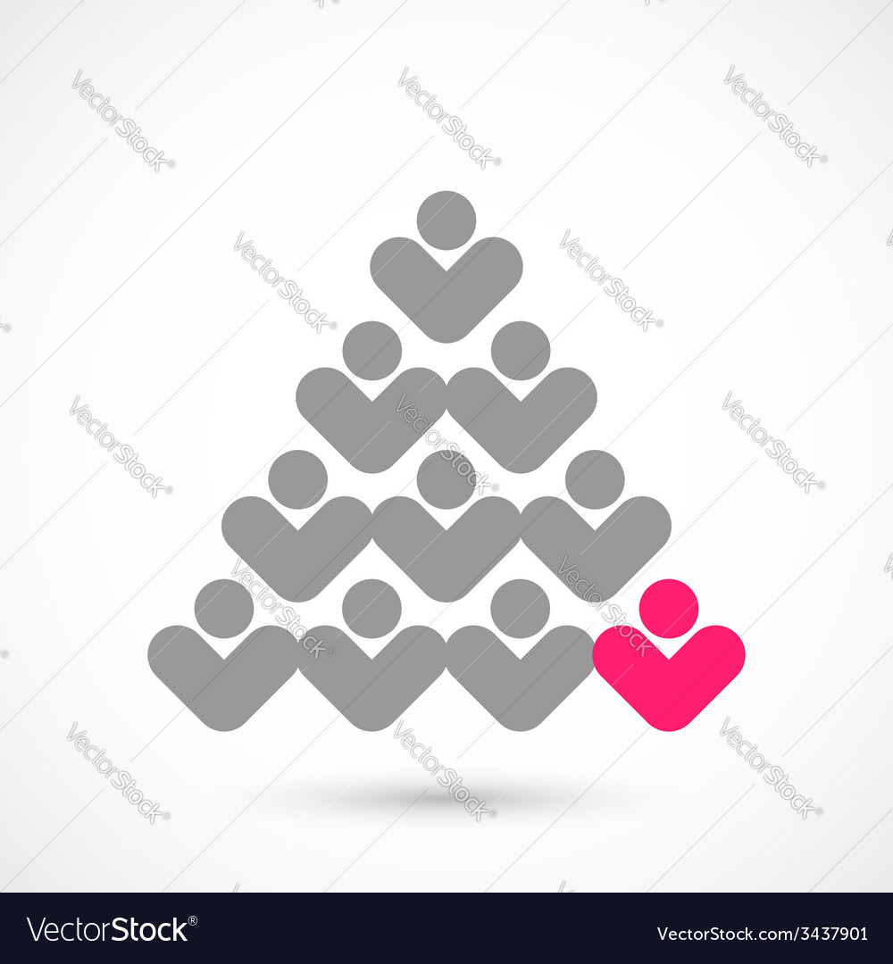Christmas vote tree vector | Price: 1 Credit (USD $1)