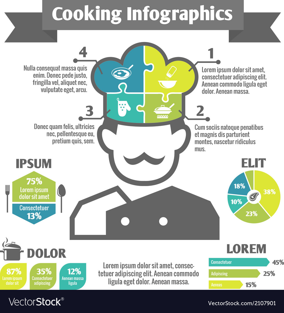 Cooking infographic icons vector | Price: 1 Credit (USD $1)