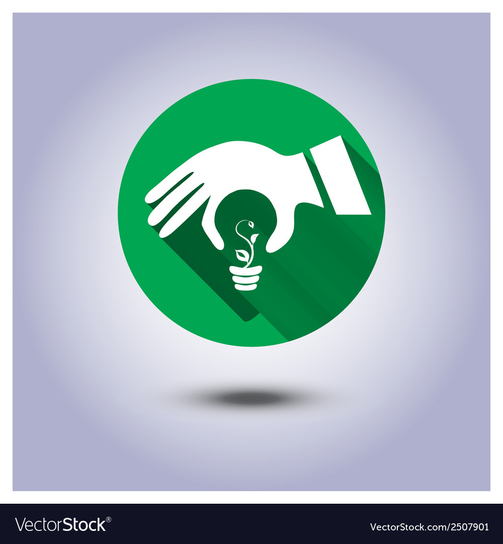 Eco icon sticker vector | Price: 1 Credit (USD $1)