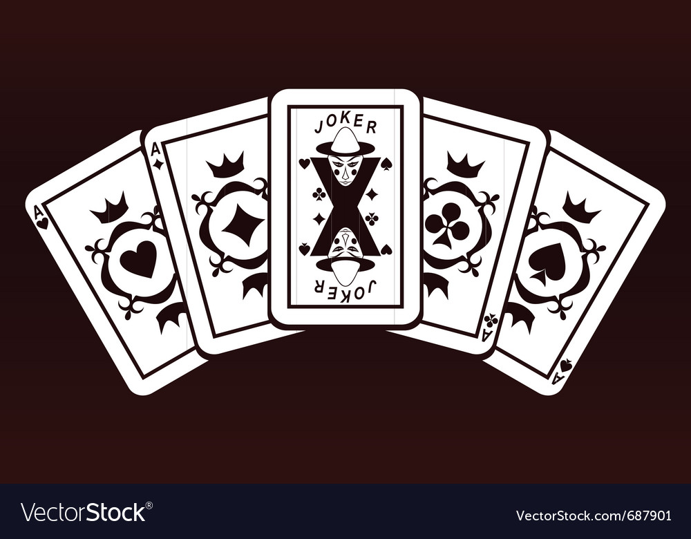 Four aces and joker vector | Price: 1 Credit (USD $1)