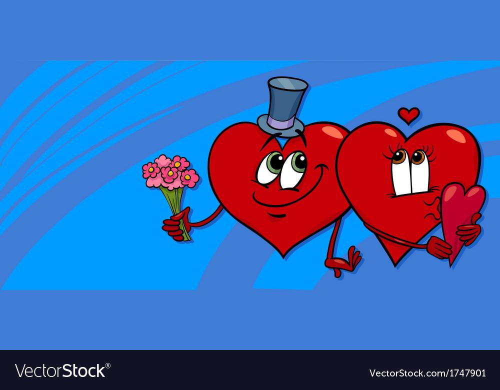 Hearts in love valentine card vector | Price: 1 Credit (USD $1)