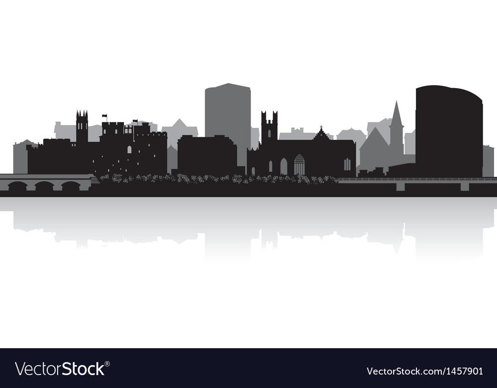Limerick city skyline silhouette vector | Price: 1 Credit (USD $1)