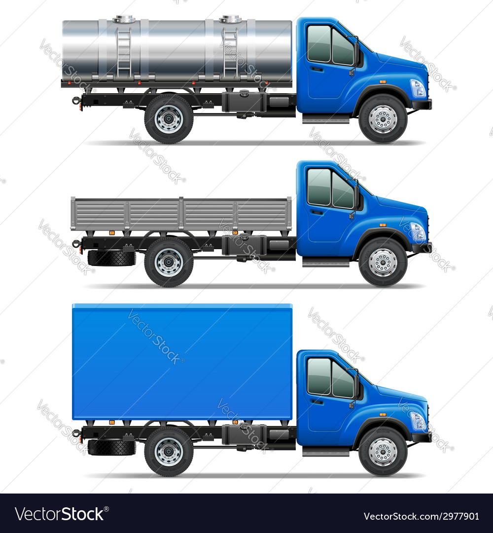 Lorry icons set 2 vector | Price: 1 Credit (USD $1)