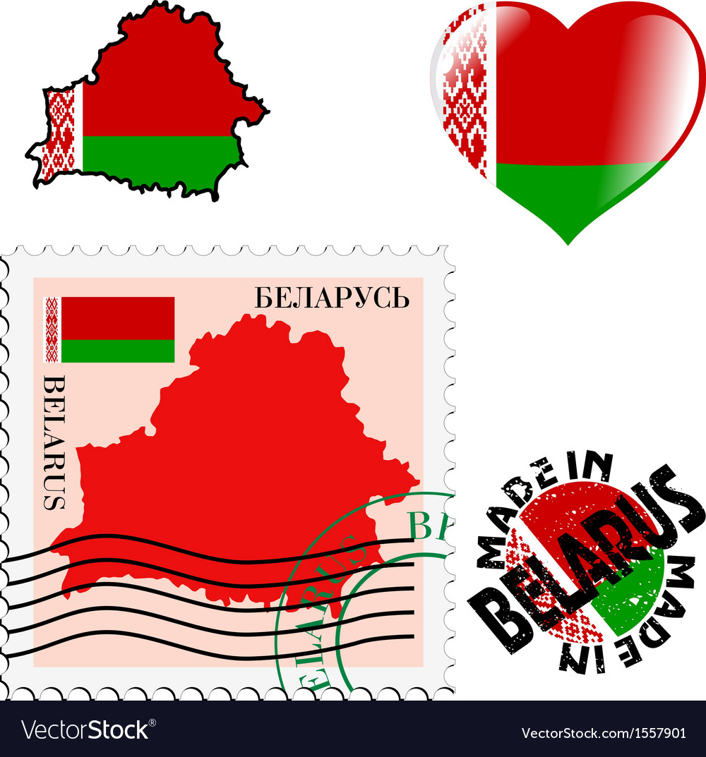 National colours of belarus vector | Price: 1 Credit (USD $1)