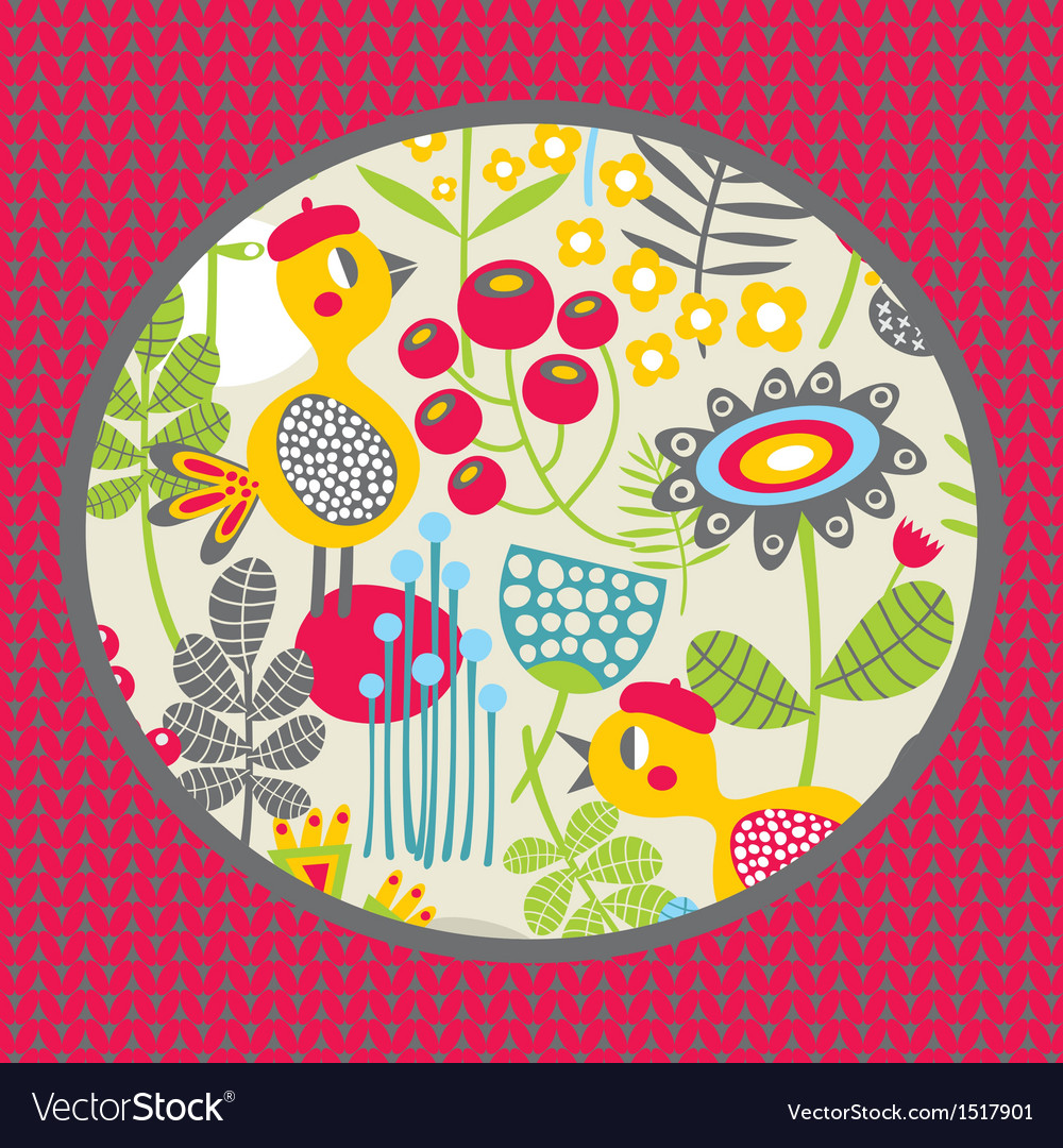 Nature and birds vector | Price: 1 Credit (USD $1)