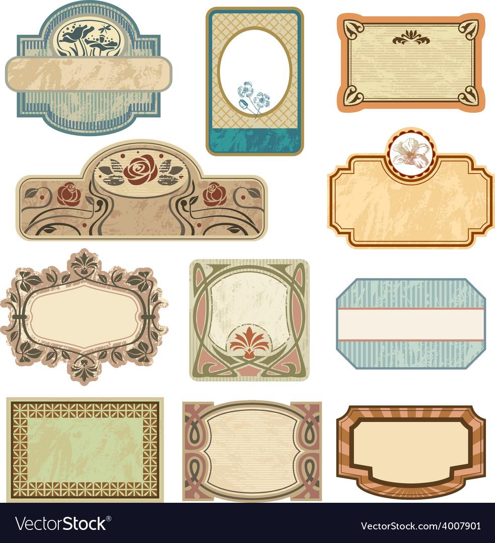 Ornate vintage labels vector | Price: 3 Credit (USD $3)