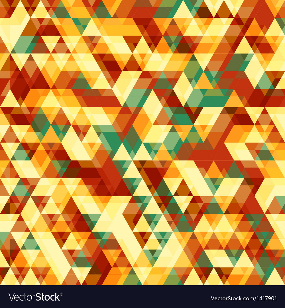 Retro abstract pattern with triangles vector | Price: 1 Credit (USD $1)