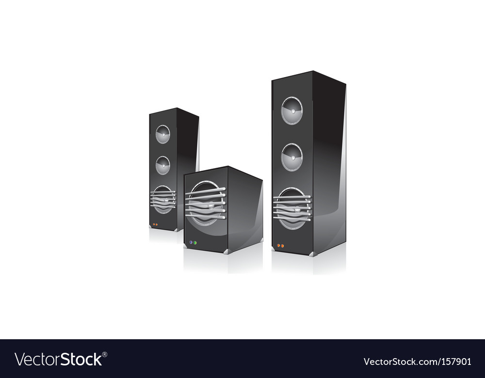 Surround speaker with subwoofer vector   Price: 1 Credit (USD $1)
