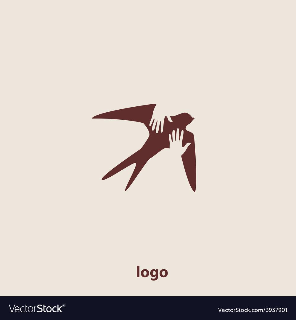 Swallow bird abstract logo design template vector | Price: 1 Credit (USD $1)