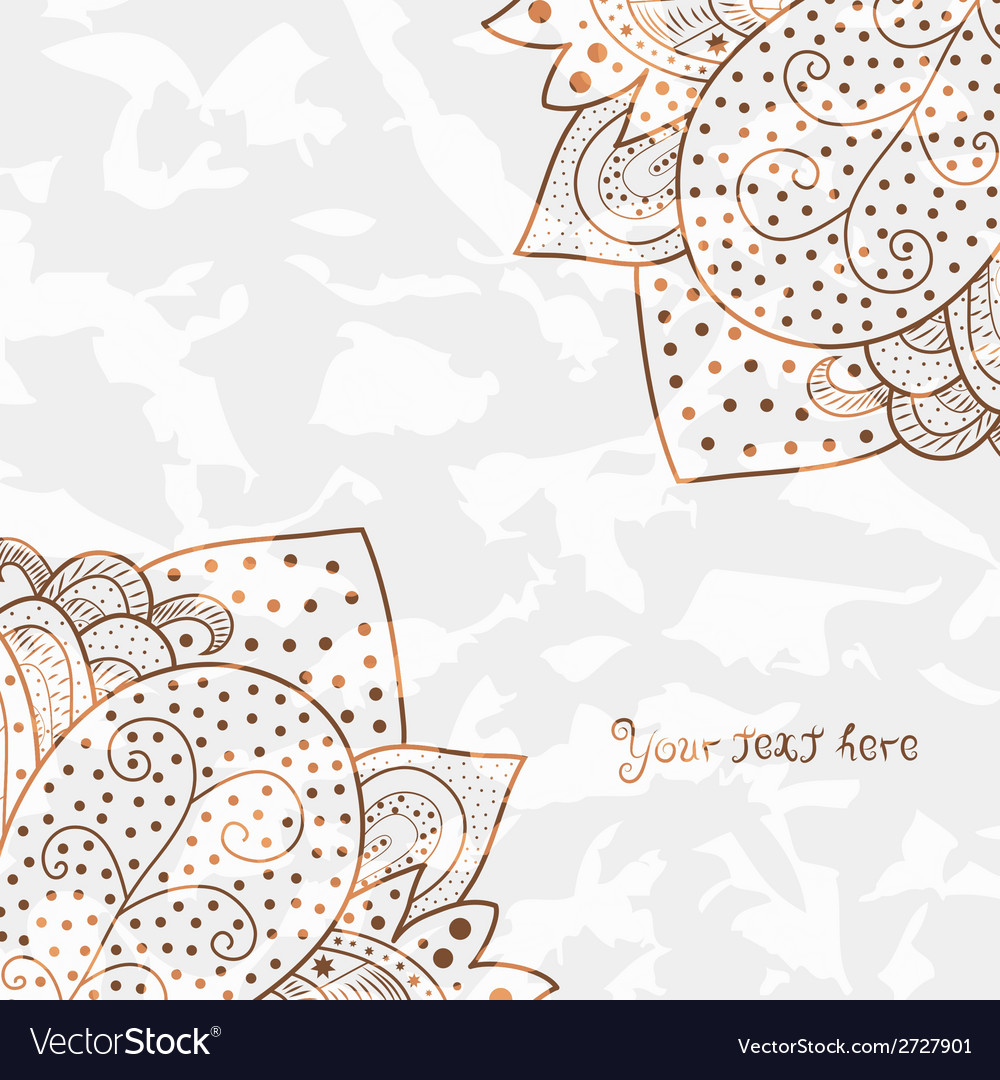 Vintage invitation corners on grunge background vector | Price: 1 Credit (USD $1)