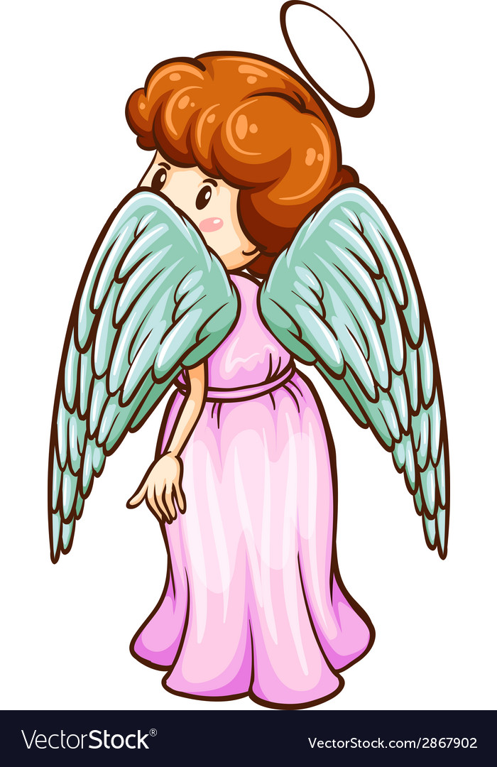 A simple sketch of an angel vector | Price: 1 Credit (USD $1)