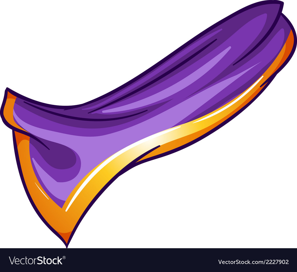 A violet-orange colored handkerchief vector | Price: 1 Credit (USD $1)