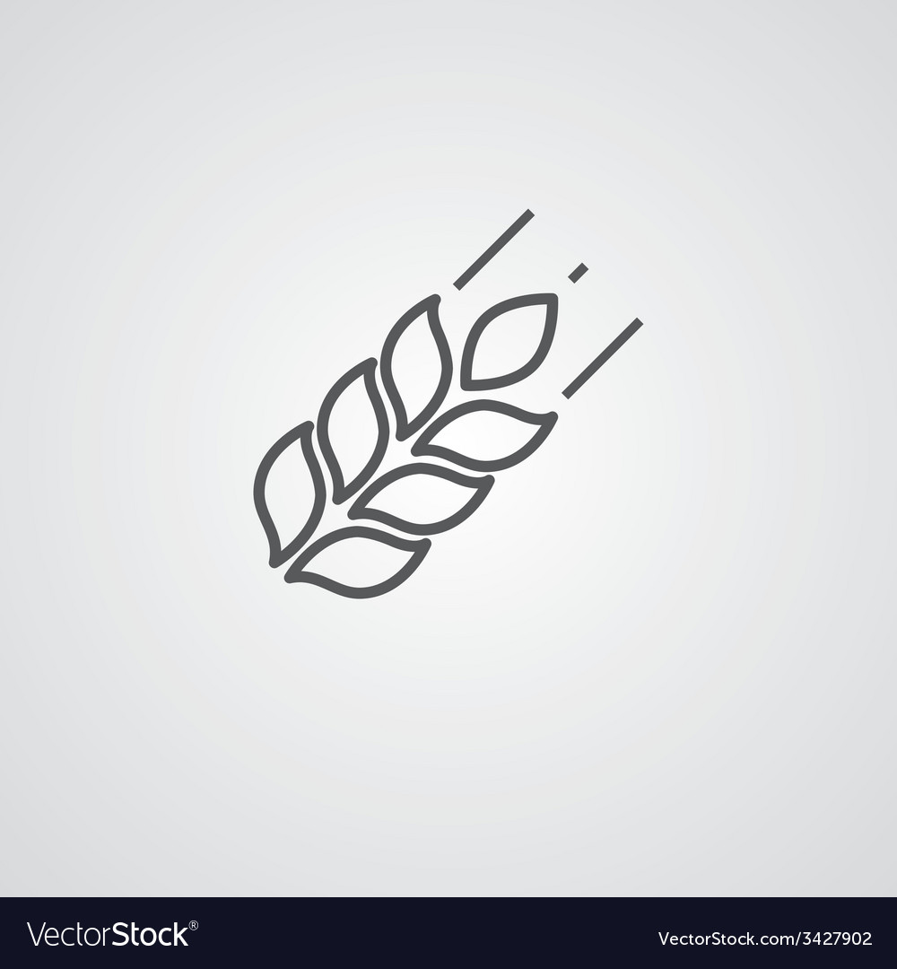 Agriculture outline symbol dark on white vector   Price: 1 Credit (USD $1)