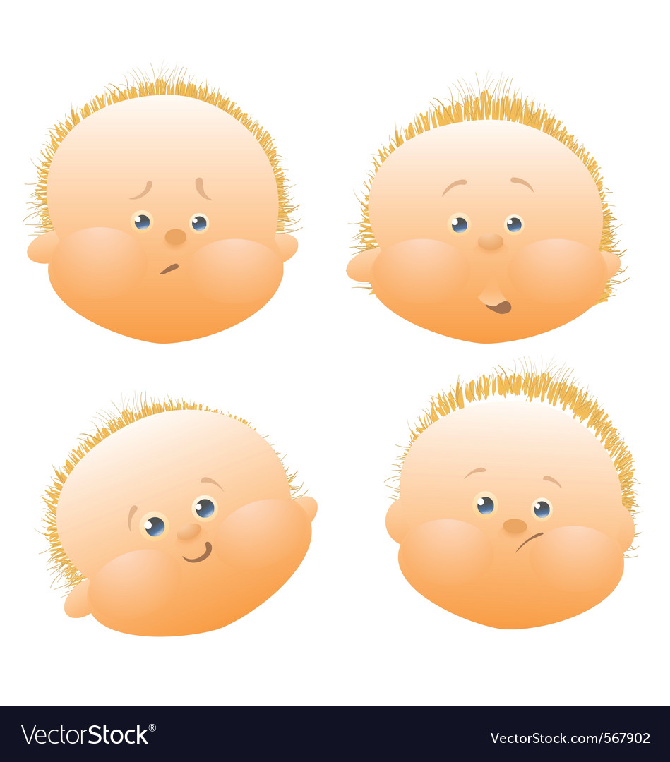 Baby face vector | Price: 1 Credit (USD $1)