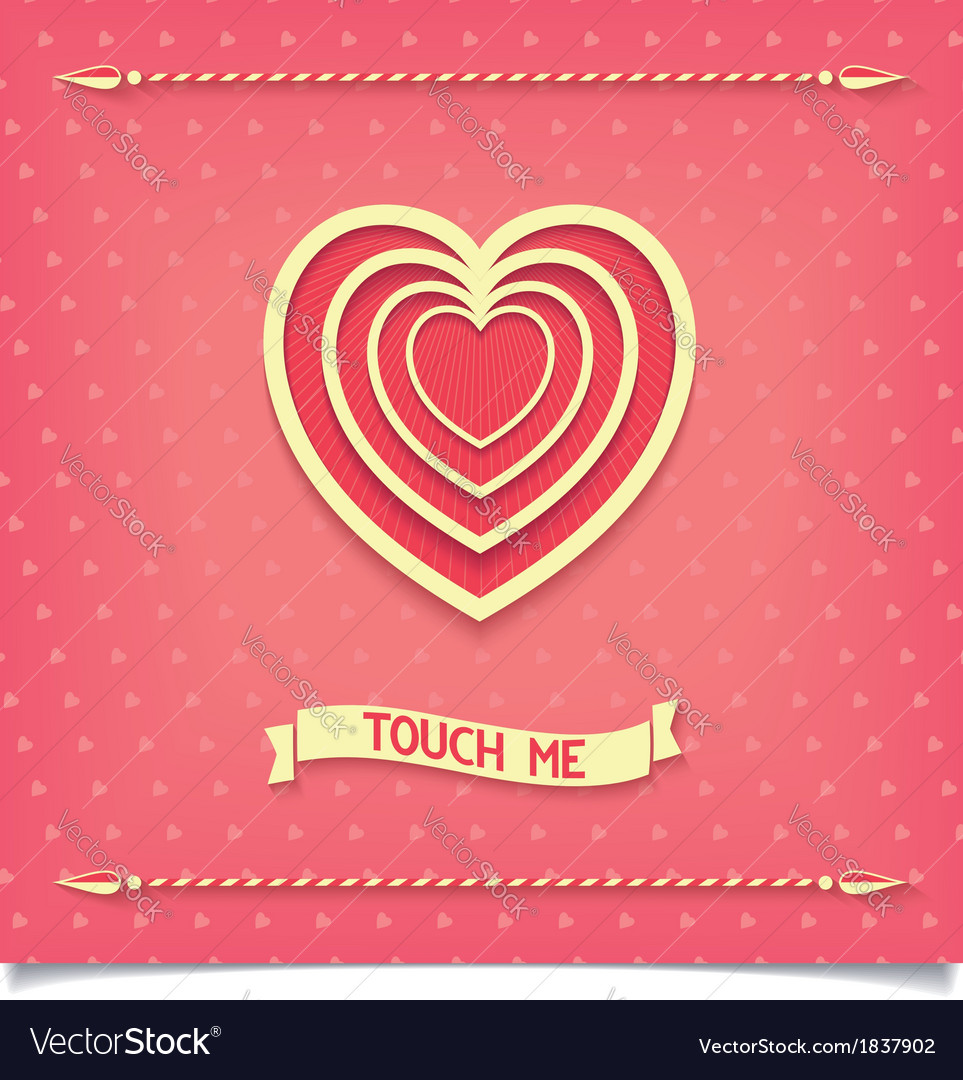Beautiful retro design heart love me vector | Price: 1 Credit (USD $1)