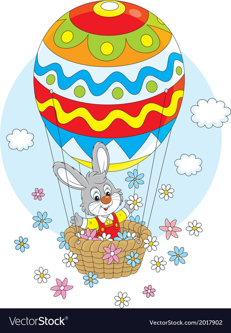 Easter bunny in a balloon vector | Price: 1 Credit (USD $1)