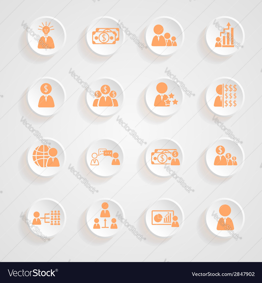 Finance icons button shadows set vector | Price: 1 Credit (USD $1)