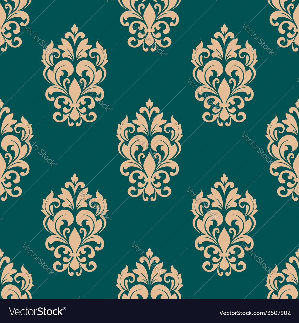 Foliage victorian seamless design vector | Price: 1 Credit (USD $1)