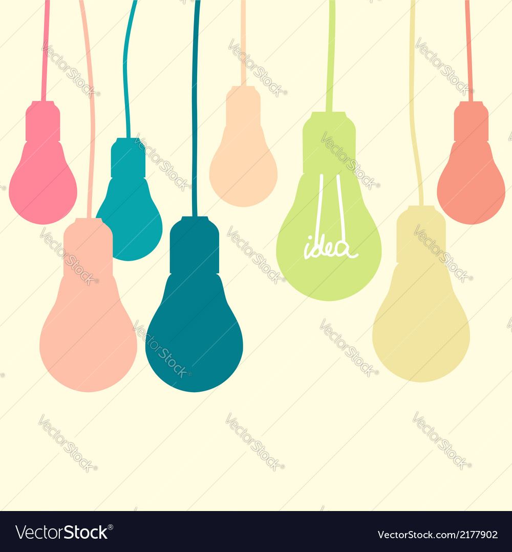 Light bulb idea vector | Price: 1 Credit (USD $1)