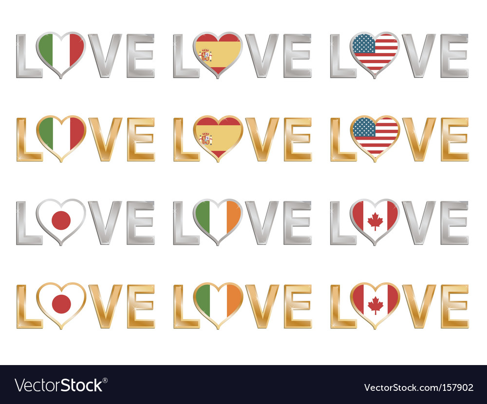Love flags vector | Price: 1 Credit (USD $1)