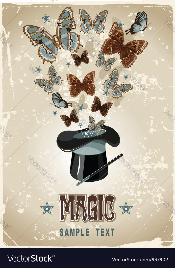 Magicians hat vector | Price: 1 Credit (USD $1)