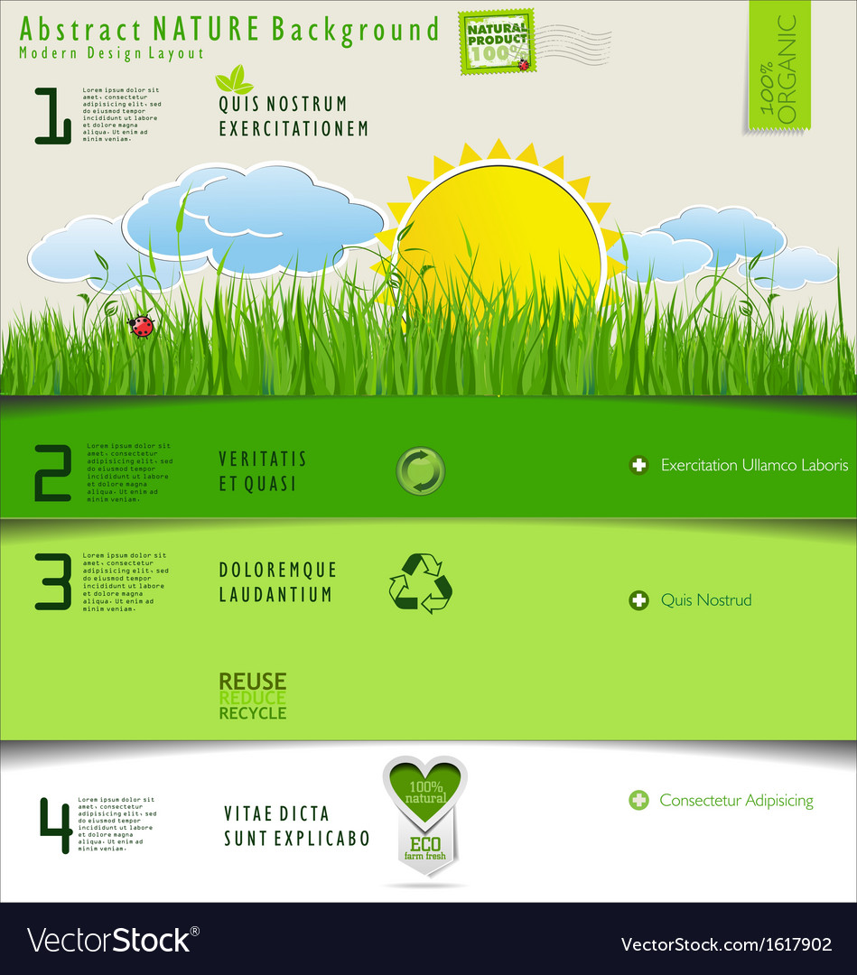 Modern nature design layout vector | Price: 3 Credit (USD $3)