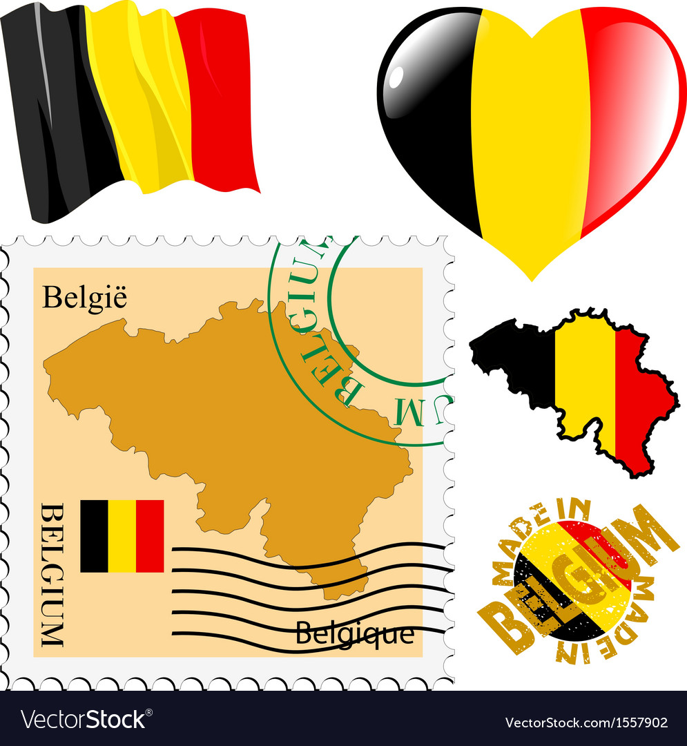 National colours of belgium vector | Price: 1 Credit (USD $1)