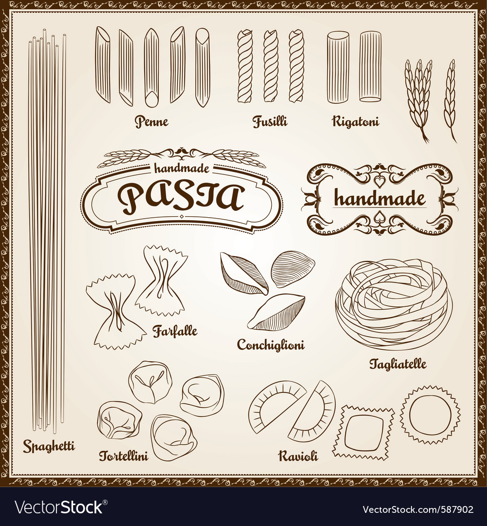 Pasta set vector | Price: 1 Credit (USD $1)