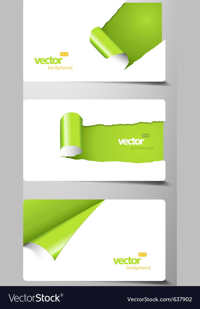 Set of gift cards with rolled corners vector | Price: 1 Credit (USD $1)