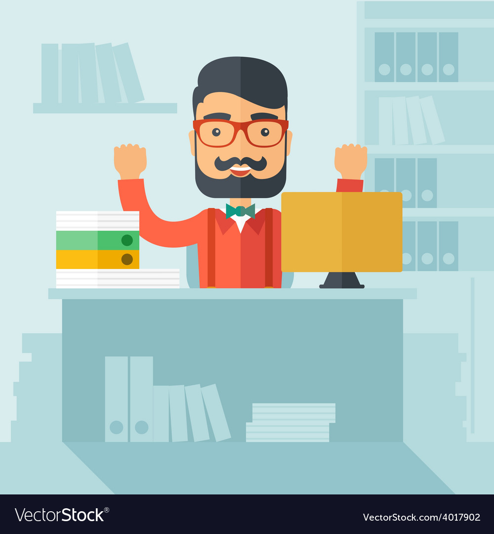 Successful office clerk vector | Price: 1 Credit (USD $1)
