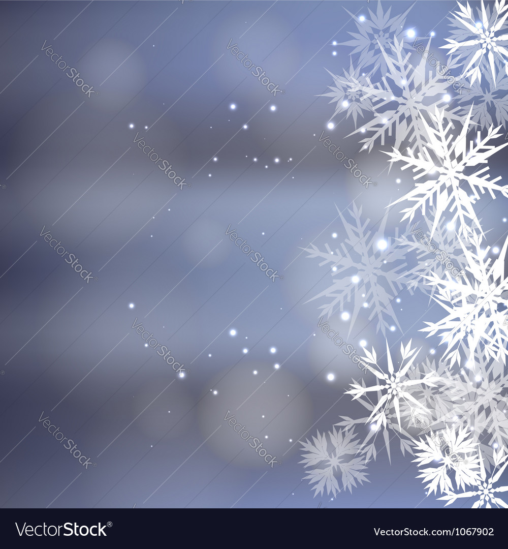 Winter snow background vector | Price: 1 Credit (USD $1)