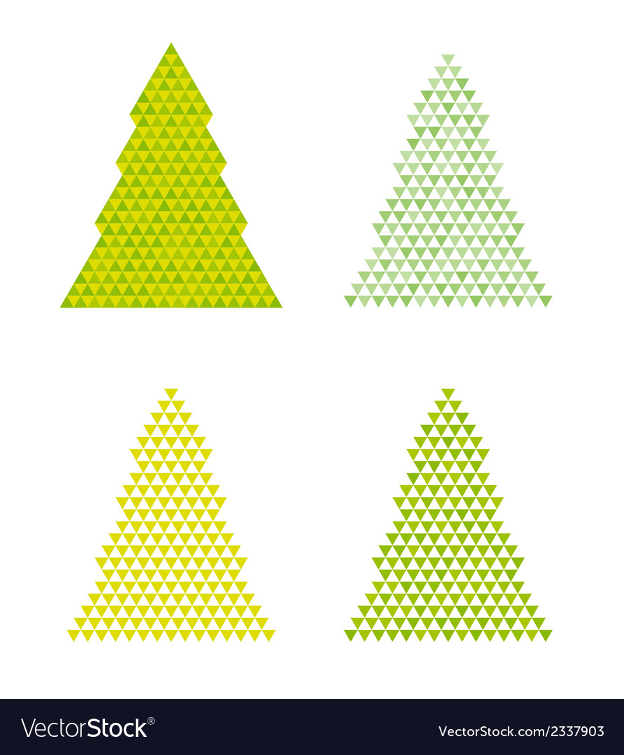 Abstract trees with reversed triangle on the top vector | Price: 1 Credit (USD $1)
