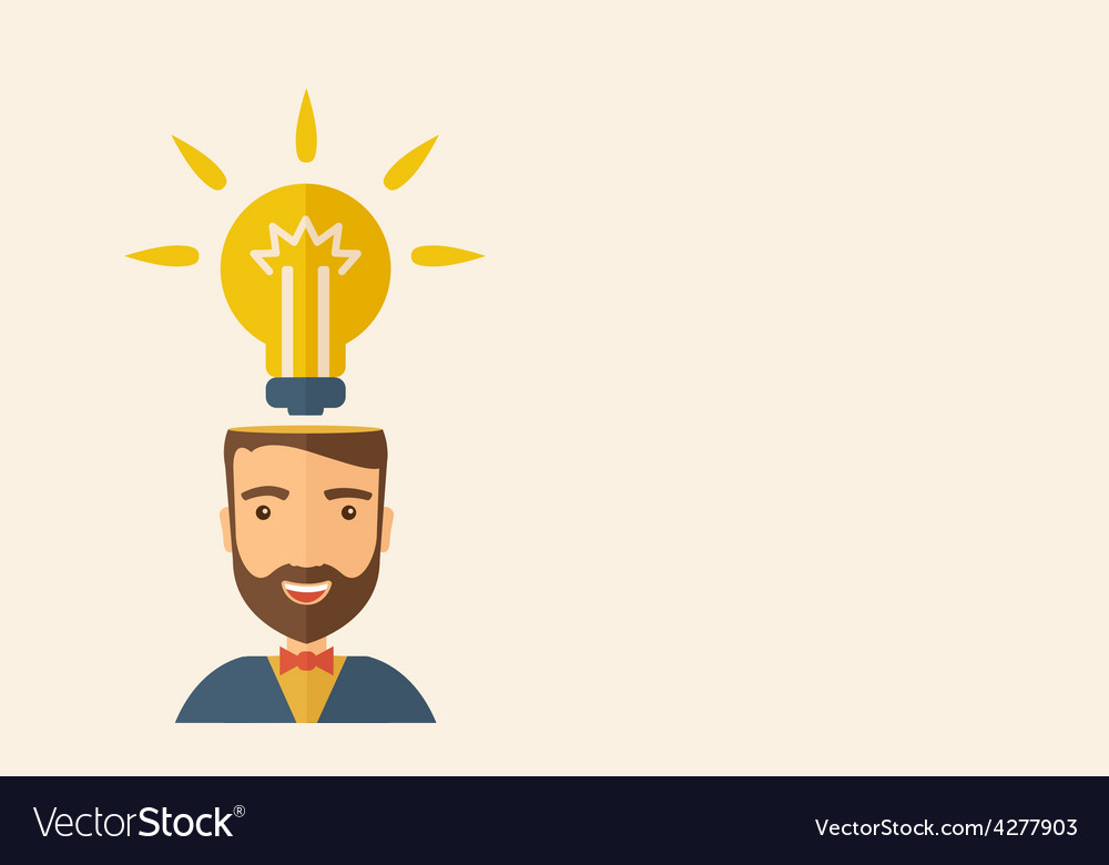 Bright idea vector | Price: 1 Credit (USD $1)