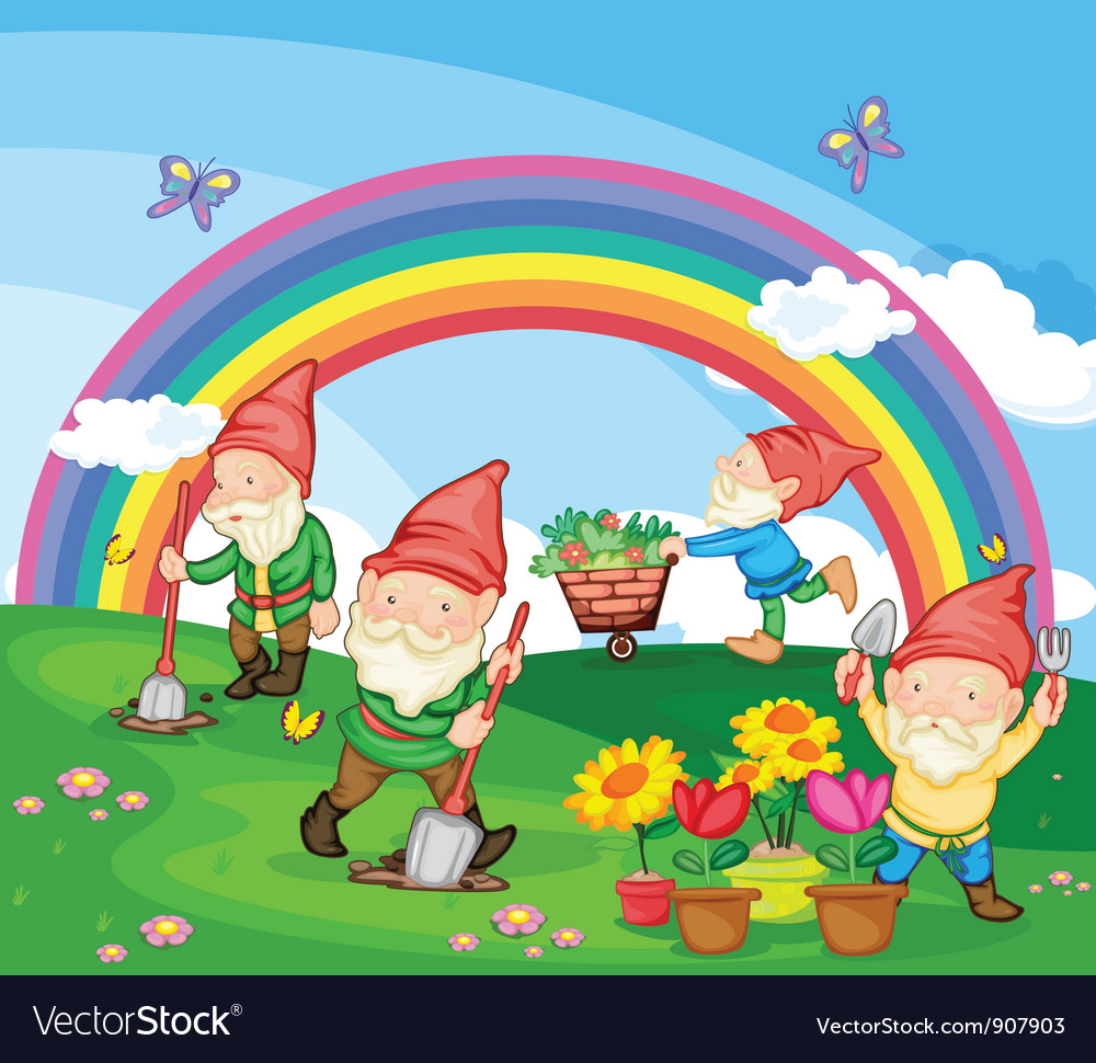 Cartoon of gnomes vector | Price: 5 Credit (USD $5)