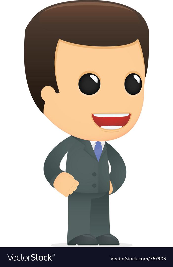 Funny cartoon boss vector | Price: 1 Credit (USD $1)