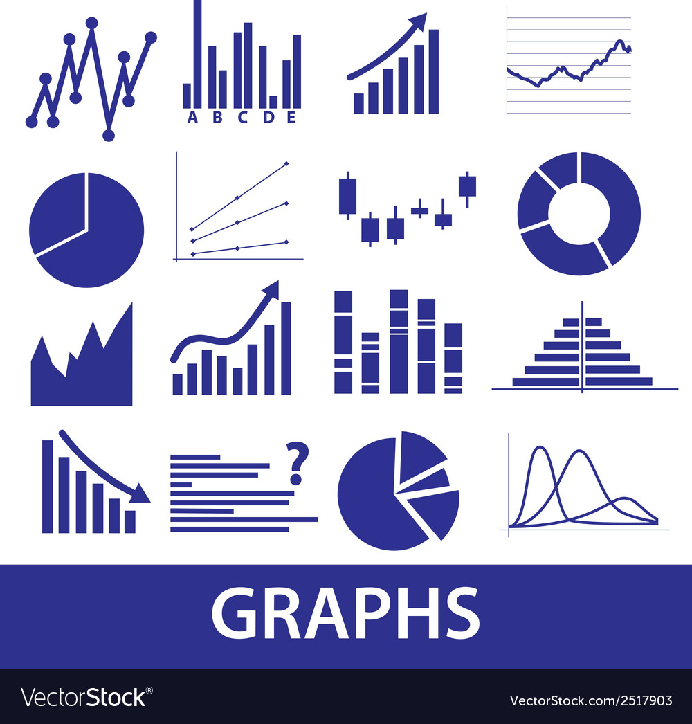 Graphs icons eps10 vector | Price: 1 Credit (USD $1)