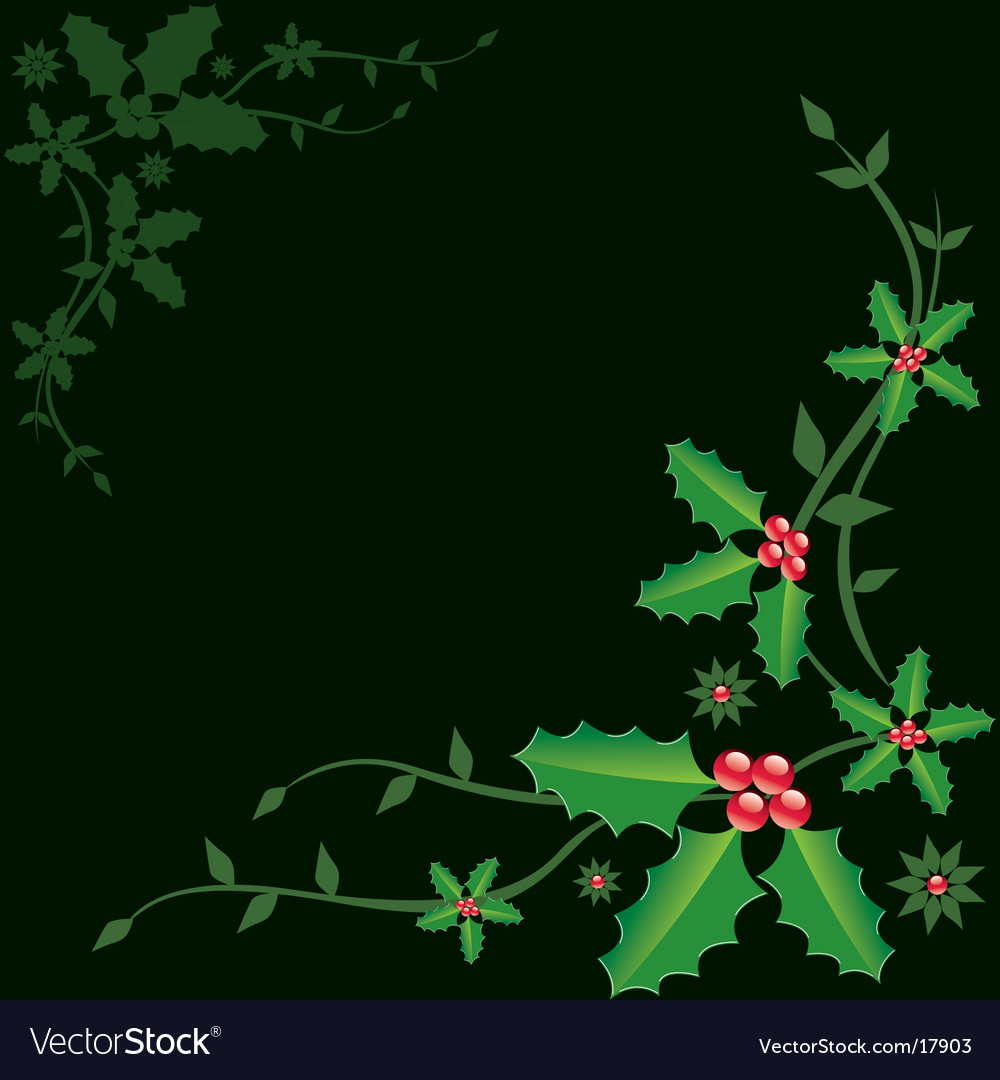 Holly christmas vector | Price: 1 Credit (USD $1)