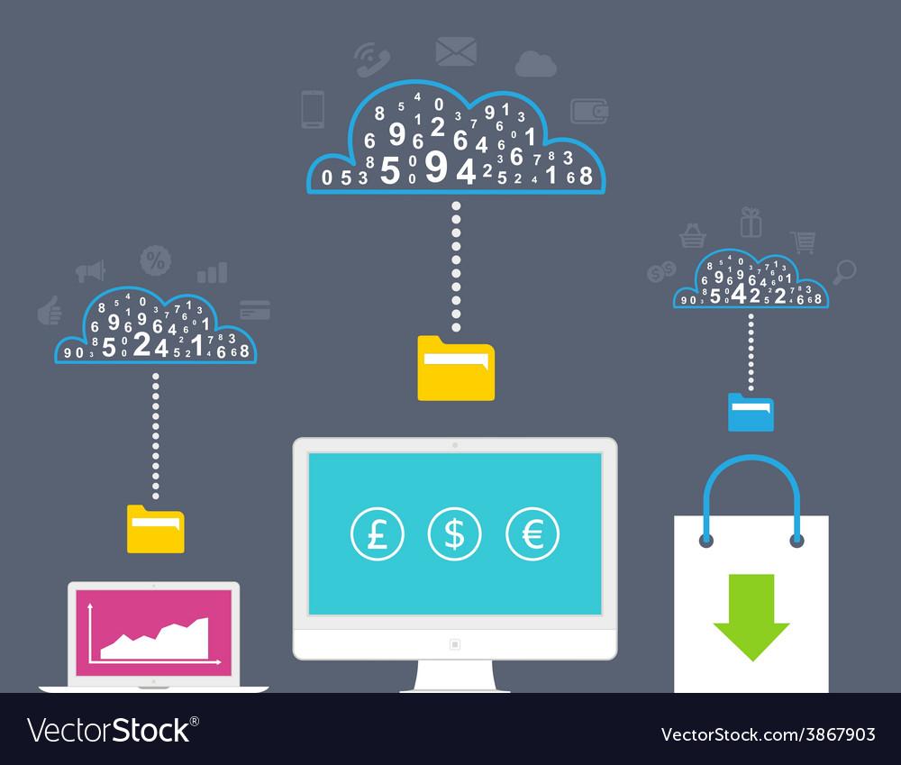 Internet analytics vector   Price: 1 Credit (USD $1)