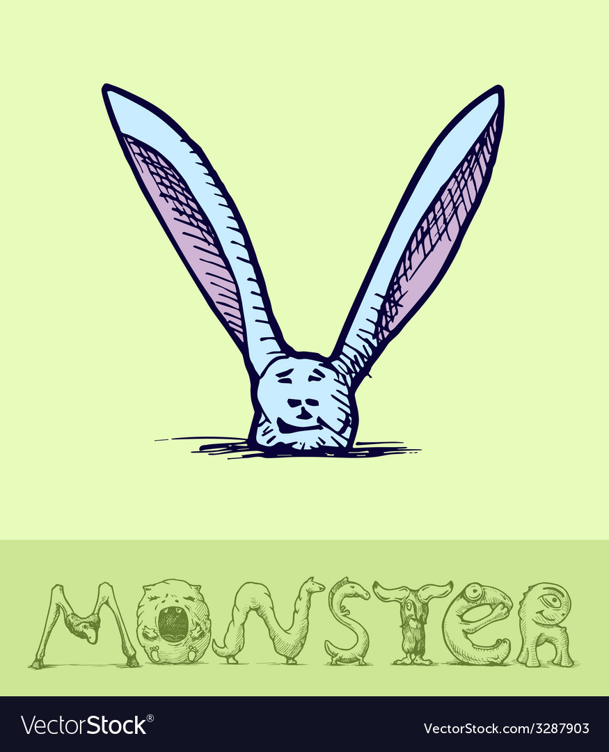 Monster font vector | Price: 1 Credit (USD $1)