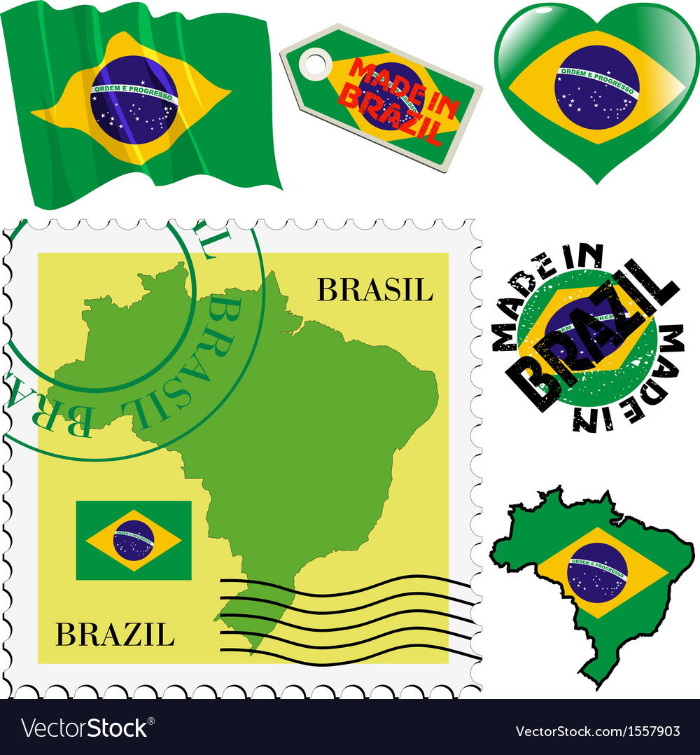 National colours of brazil vector | Price: 1 Credit (USD $1)