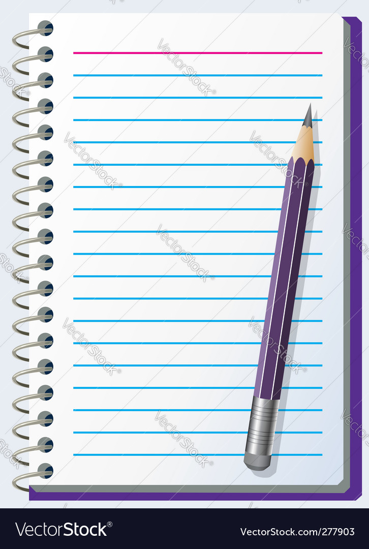 Note pad with pencil vector | Price: 1 Credit (USD $1)