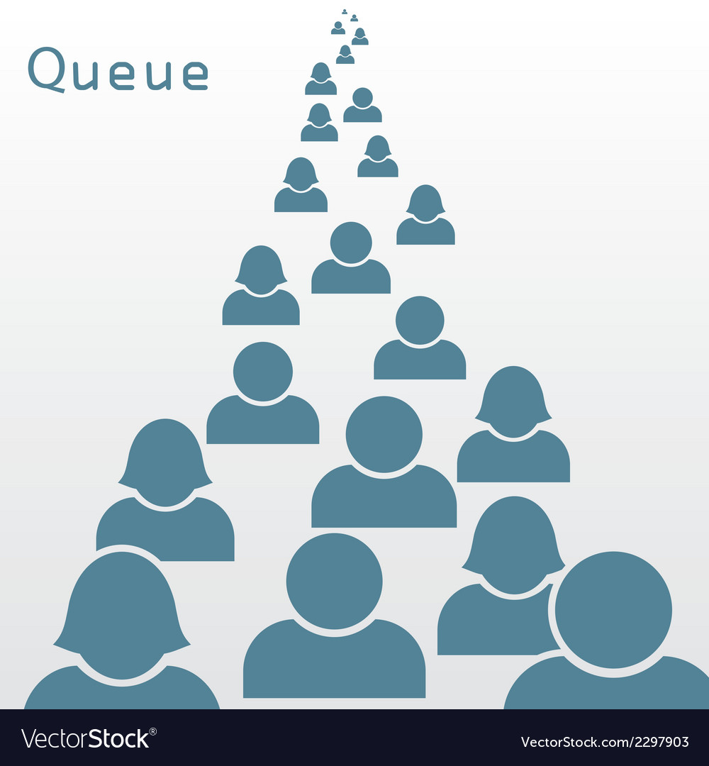 Queue vector | Price: 1 Credit (USD $1)