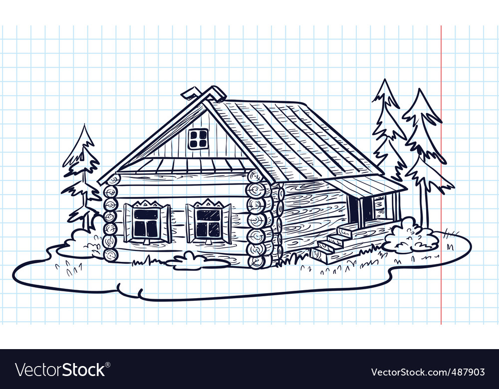 Russian hut vector | Price: 1 Credit (USD $1)