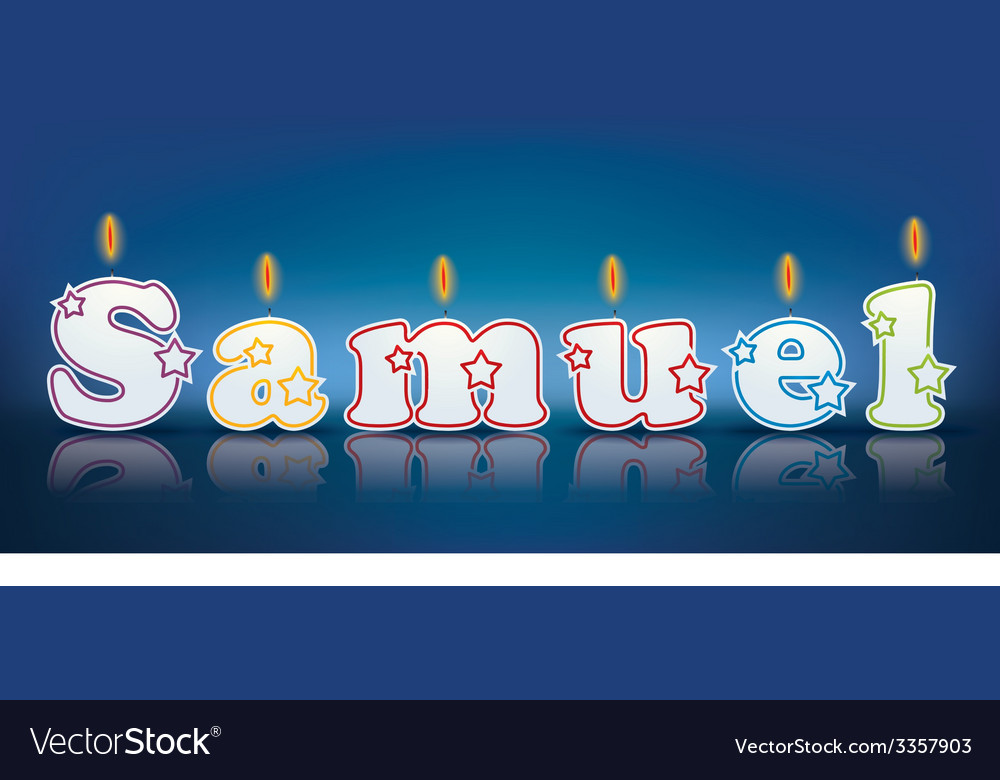 Samuel written with burning candles vector | Price: 1 Credit (USD $1)