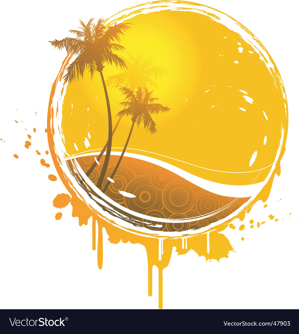 Sun splash vector | Price: 1 Credit (USD $1)