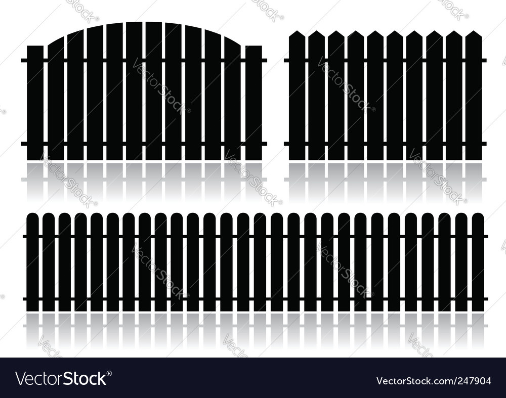 Black fence isolated on white vector | Price: 1 Credit (USD $1)