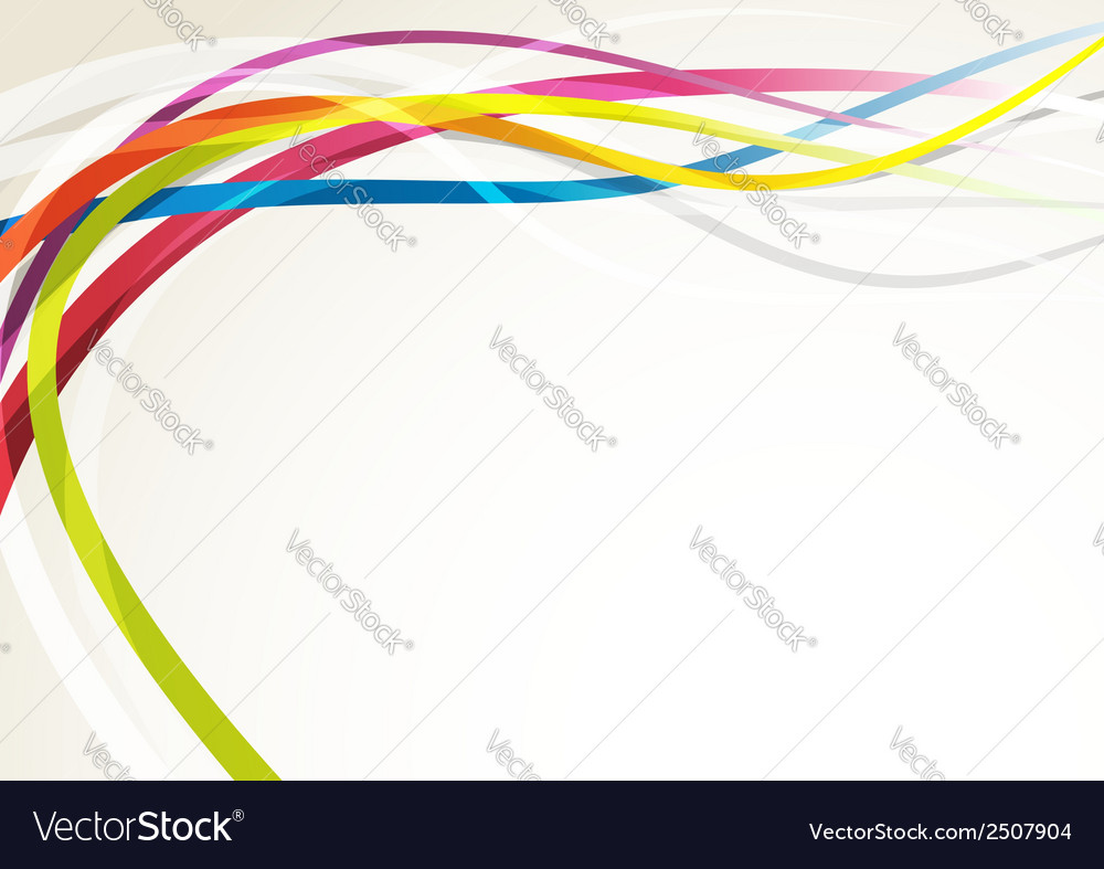 Bright abstract rainbow swoosh lines background vector | Price: 1 Credit (USD $1)