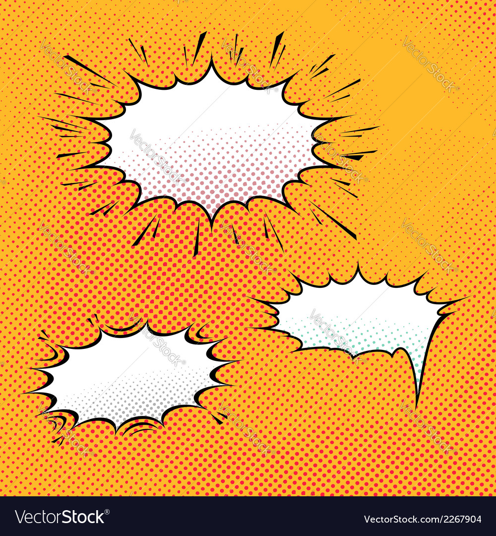 Comic speech bubble art background vector | Price: 1 Credit (USD $1)